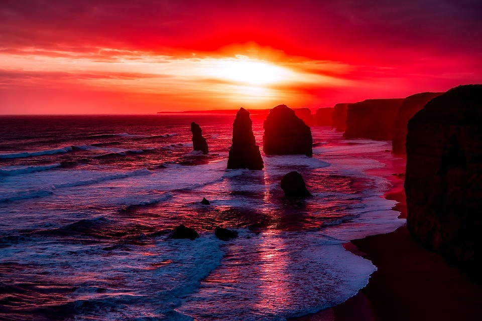 red majestic sunset